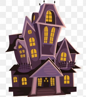 Haunting Halloween Cliparts - Haunted Attraction Halloween House Free Content Clip Art PNG