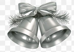 Christmas Silver Bell - Christmas Decoration Jingle Bell Christmas Ornament PNG