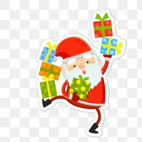 Santa Claus Distributed Gifts Vector Material - Santa Claus Christmas Euclidean Vector Illustration PNG