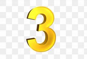 Number 3 - 3D Computer Graphics Clip Art PNG