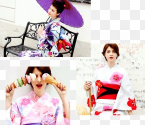 Maggy - Kimono Geisha Yukata Pink M Retro Style PNG