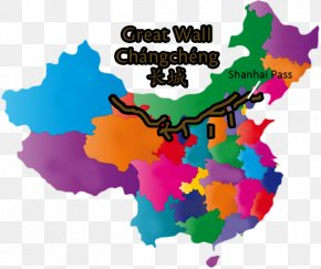 Great Wall China - Flag Of China Stock Photography Vector Map PNG