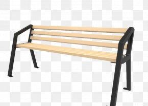 Simple Park Chair - Bench Chair Stool Wood PNG