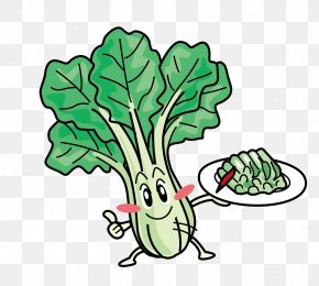 Vector Cabbage Leaves - Leaf Vegetable Bok Choy Clip Art PNG