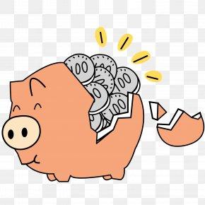 Cartoon Piggy Piggy Bank - Piggy Bank Saving PNG