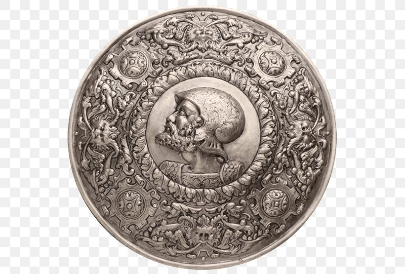 Shield Spanish Conquest Of The Aztec Empire Knight Scutum, PNG, 555x555px, Shield, Charles V, Coin, Components Of Medieval Armour, Julius Caesar Download Free