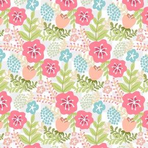 Elegant Retro Flower Pattern - Flower Euclidean Vector Pastel Vintage Clothing Pattern PNG
