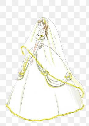 Hand-painted Wedding Dress Bride - Wedding Dress Bride PNG