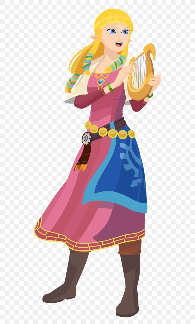 The Legend Of Zelda: Skyward Sword The Legend Of Zelda: Twilight Princess HD Princess Zelda Link The Legend Of Zelda: Breath Of The Wild, PNG, 587x1359px, Legend Of Zelda Skyward Sword, Art, Clothing, Costume, Costume Design Download Free