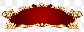 Golden Banner Cliparts - Web Banner Clip Art PNG