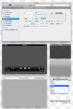 Mac Applications GUI Interface - Graphical User Interface PNG