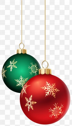 Hanging Christmas Balls Transparent Clip Art Image - Christmas Ornament Christmas Decoration Christmas Lights Clip Art PNG