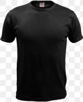 Black T-shirt Image - T-shirt Under Armour Sleeve Polo Shirt PNG