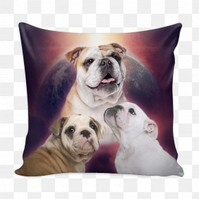 Bulldog - Toy Bulldog Puppy Dog Breed Throw Pillows PNG