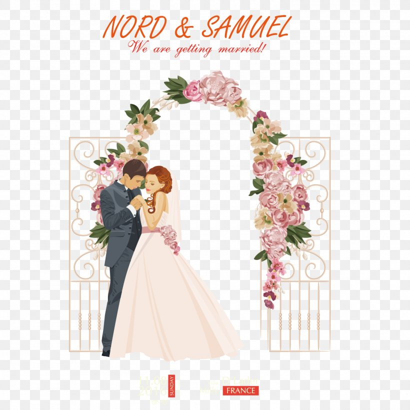 Wedding Illustration, PNG, 1500x1500px, Wedding, Art, Bridal Shower, Bride, Bridegroom Download Free