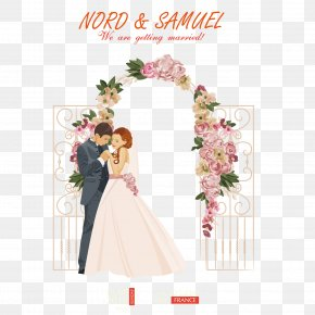 Romantic New Person - Wedding Illustration PNG