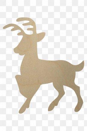 Reindeer - Reindeer Shape Wood Horn PNG