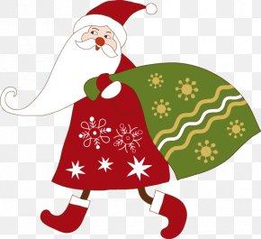 Green Santa Claus Gift Bags - Wedding Invitation Santa Claus Christmas Card Greeting & Note Cards PNG