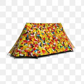 Yellow Wave Tents - Tent Camping Campsite Candy Child PNG