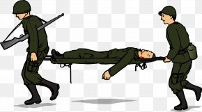 Green Rescue Wounded - Soldier Military Clip Art PNG