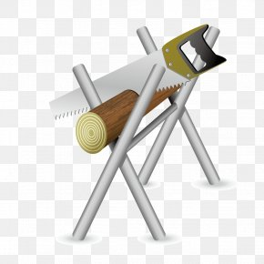 Vector Handsaw Sawing Wood - Hand Saw Tool Wood PNG