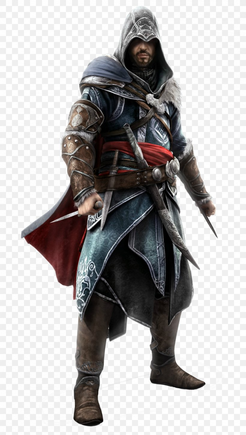 Assassin's Creed: Revelations Assassin's Creed III Assassin's Creed: Brotherhood, PNG, 1000x1769px, Ezio Auditore, Action Figure, Armour, Assassins, Clothing Download Free