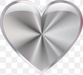 Silver - Silver Heart Clip Art PNG