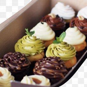 Cupcake,small Cake,chocolate - Icing Cupcake Chocolate Cake Cream Macaron PNG