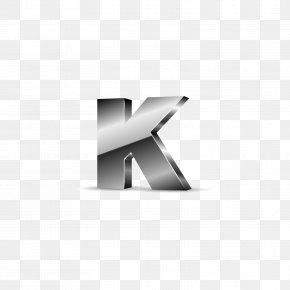 Silver Black Letters K - K Letter Computer File PNG
