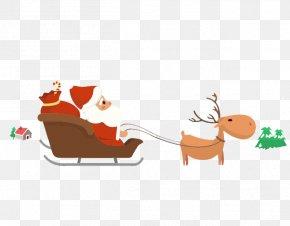 Santa Claus Christmas Gifts Creative Car - Santa Claus Christmas Gift Christmas Gift PNG