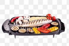 Barbecue On A Baking Pan - Barbecue Steak Grilling Fish Frying Pan PNG