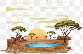 Vector Hand-painted Cartoon Natural Scenic Spot - Meerkat Royalty-free Illustration PNG