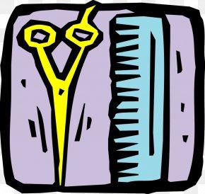 Men Bathroom Sign - Comb Cartoon Red Clip Art PNG