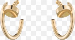 Jewellery - Earring Cartier Jewellery Colored Gold PNG