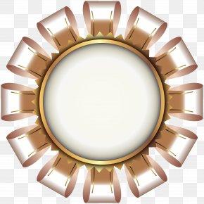 Deco Seal Gold Transparent Clip Art Image - Art Deco Clip Art PNG