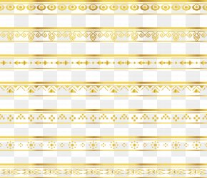 Delicate Gold Lace Border - Ribbon Lace Gold Pattern PNG