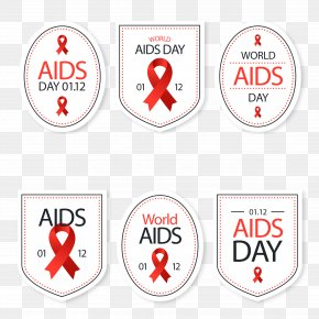 World AIDS Day Vector - World AIDS Day Red Ribbon PNG