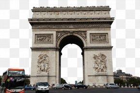 Arc De Triomphe In Paris Attractions - Arc De Triomphe Eiffel Tower Champs-Élysées Notre-Dame De Paris Place De La Concorde PNG