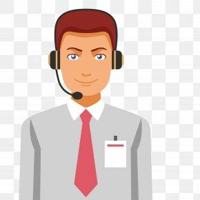 Cartoon Man Customer Service - Customer Service Cartoon PNG