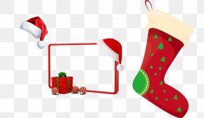 Christmas Single Border - Borders And Frames Santa Claus Christmas Day Picture Frames Clip Art PNG