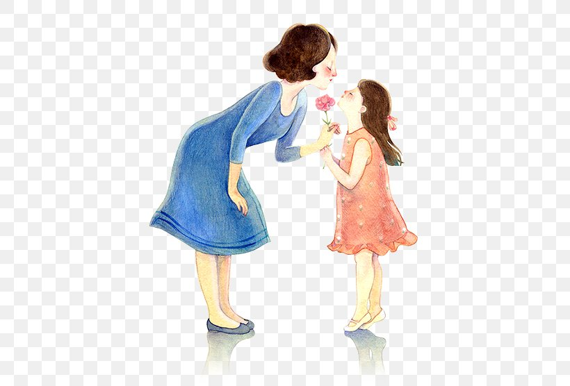 Mother's Day Gift Father Daughter, PNG, 473x556px, Watercolor, Cartoon, Flower, Frame, Heart Download Free