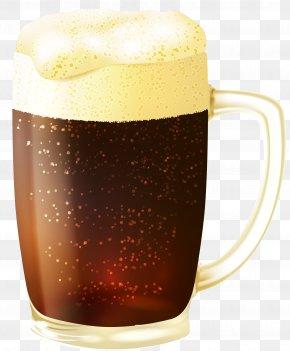 Mug Of Dark Beer Vector Clipart Image - Beer Cocktail Brown Ale Draught Beer PNG