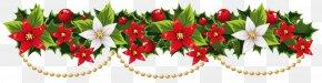 Mistletoe Cliparts Transparent - Christmas Decoration Garland Wreath Clip Art PNG
