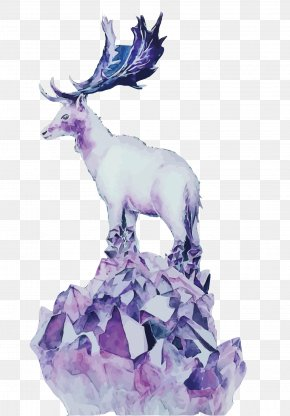 Vector Crystal Deer - Deer Quartz Purple Download Euclidean Vector PNG
