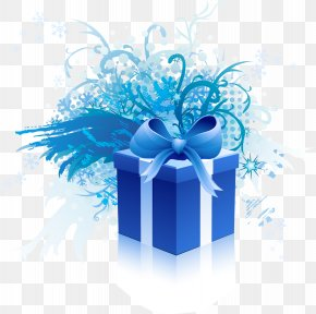 Beautiful Blue Gift Box - Gift Card Coupon Voucher Gift Shop PNG