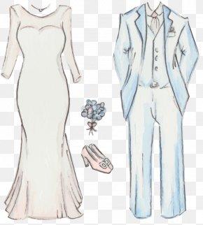 Hand-painted Dresses Shoes - Gown Drawing Dress Bride Traje De Novio PNG