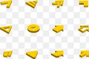 Yellow Arrow Direction - Arrow Keys Icon PNG