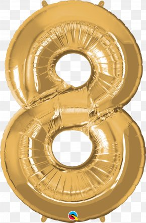 Balloon - Balloon Children's Party Birthday Gold PNG