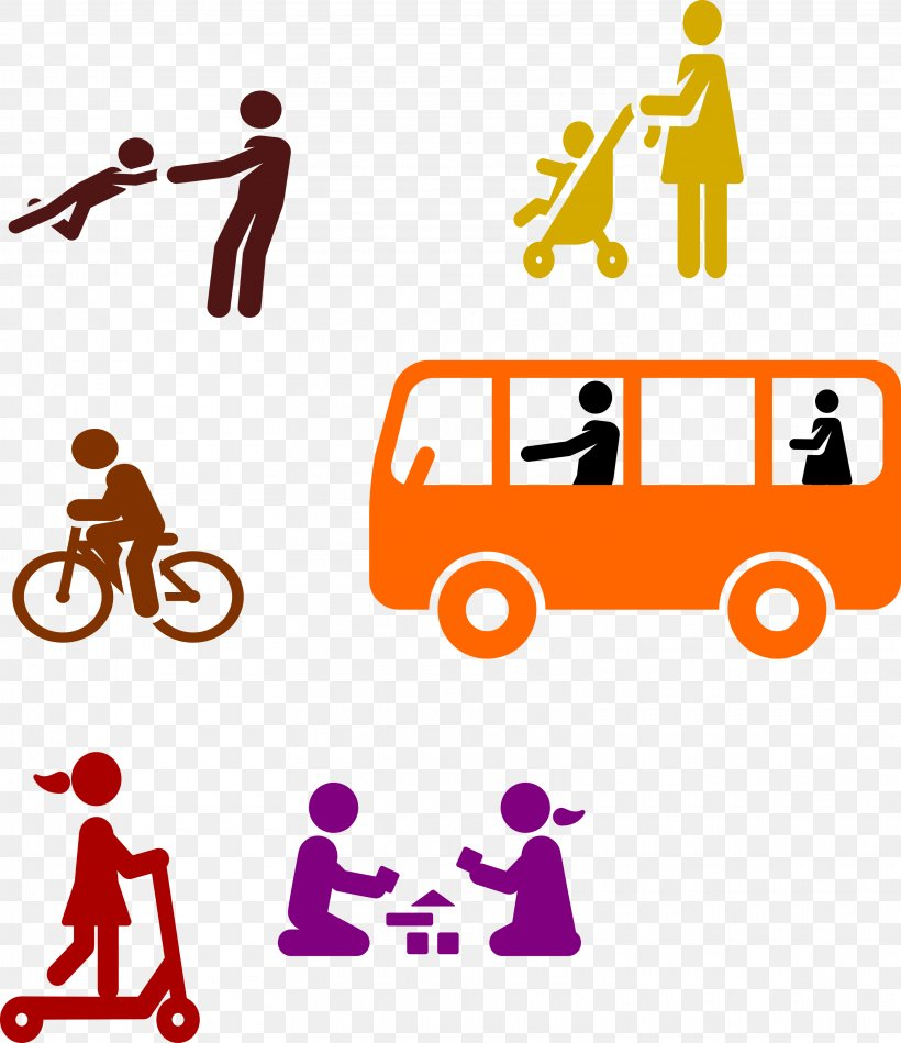 Border template with kids on school bus illustration.