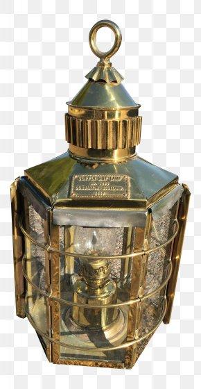 Antique Lantern - Brass Lighting Ship Lantern Maritime Transport PNG